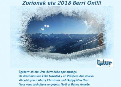 ZORIONAK eta URTE BERRI 2018 !!!!