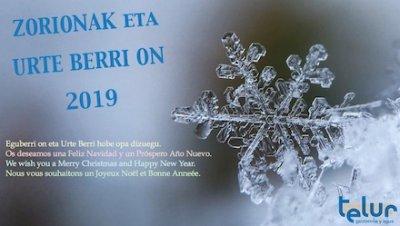 ZORIONAK eta URTE BERRI ON 2019