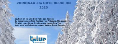 ZORIONAK eta URTE BERRI ON 2020
