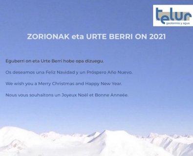 ZORIONAK eta URTE BERRI ON 2021